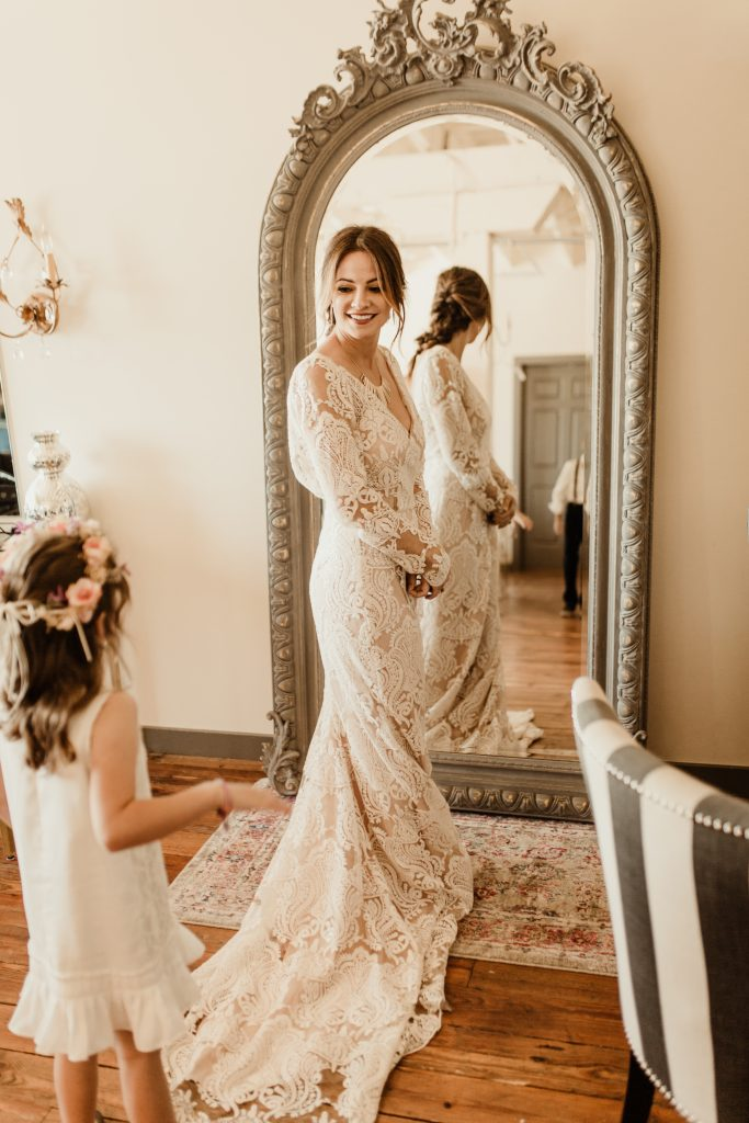 Bohemian Romance Surprise Vow Renewal - Bride Getting Ready
