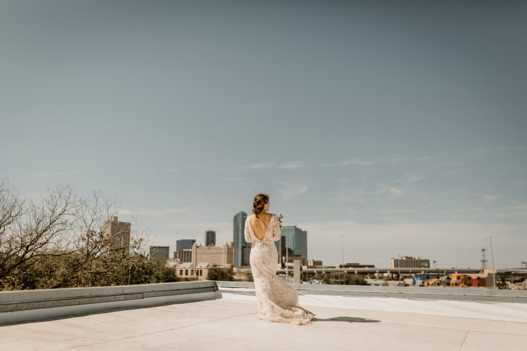 Bohemian Romance Surprise Vow Renewal - First Look on a Rooftop