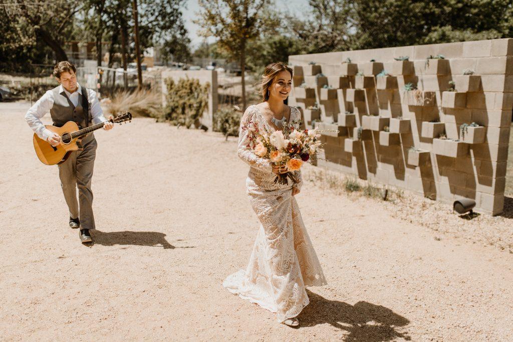 Bohemian Romance Surprise Vow Renewal - Ceremony