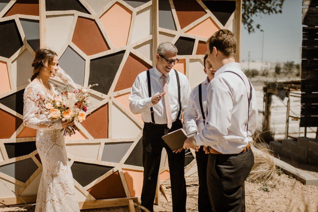 Bohemian Romance Surprise Vow Renewal - Officiant Friend is Revealed