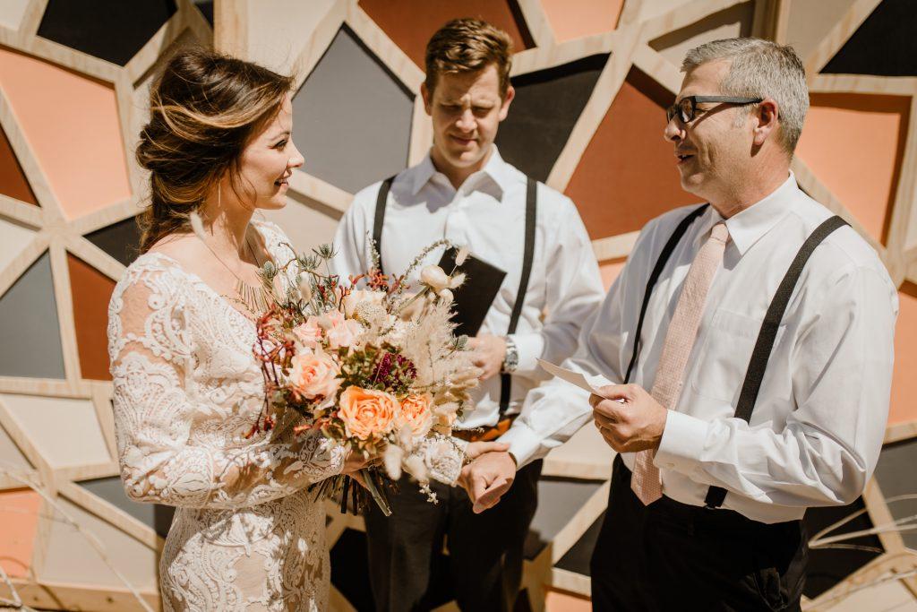 Bohemian Romance Surprise Vow Renewal - Vow Renewal Ceremony