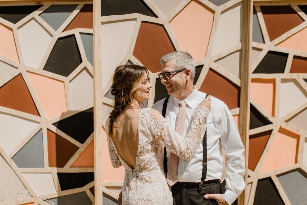 Bohemian Romance Surprise Vow Renewal - Bridal Photos