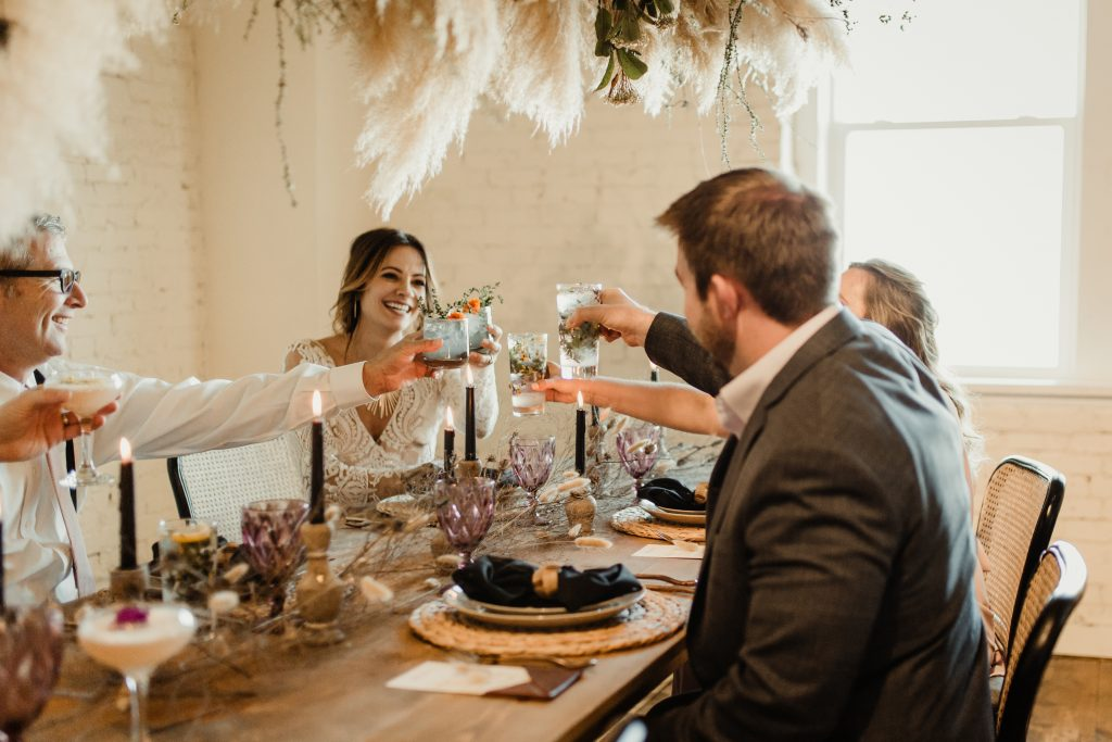 Bohemian Romance Surprise Vow Renewal - Intimate Reception