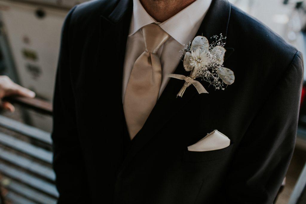 Winter Romance Wedding - Boutonniere