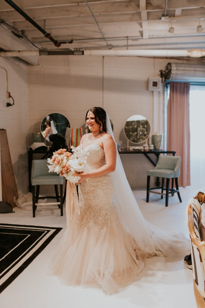 Winter Romance Wedding - First Look with Dad