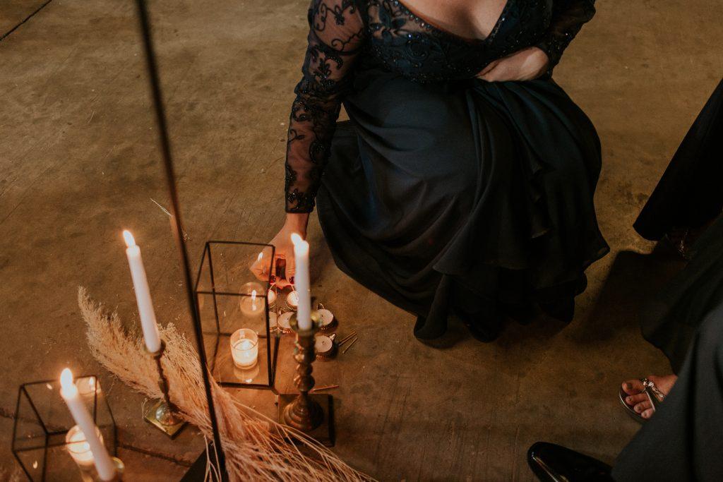 Winter Romance Wedding - Lighting the Diyas