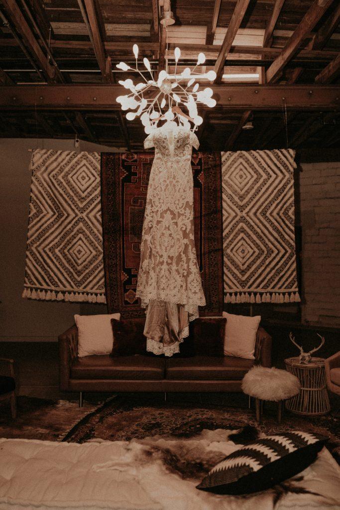 Mod West Wedding - Bridal Gown Details