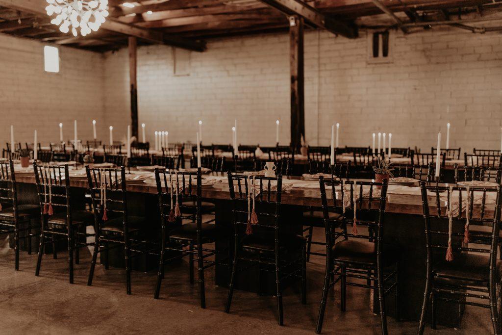 Mod West Wedding - Reception Design