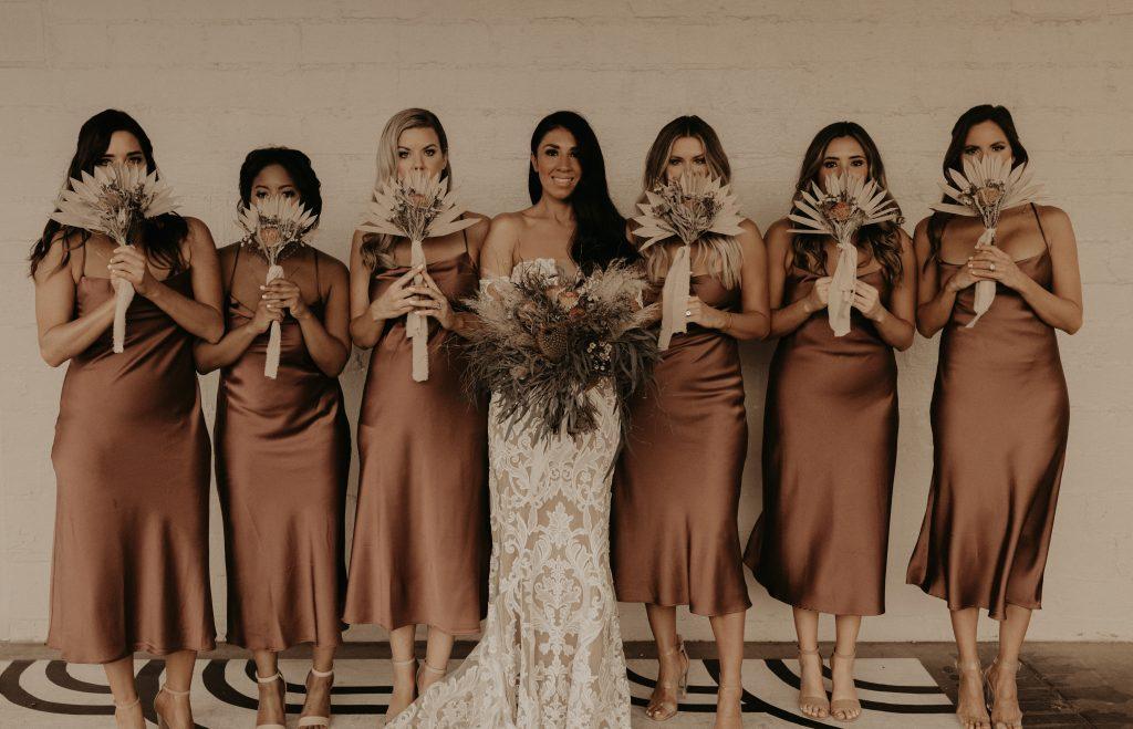Mod West Wedding - Bridal Party