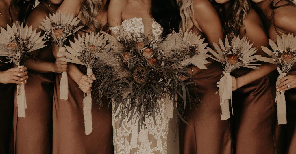 Mod West Wedding - Bridal Flowers