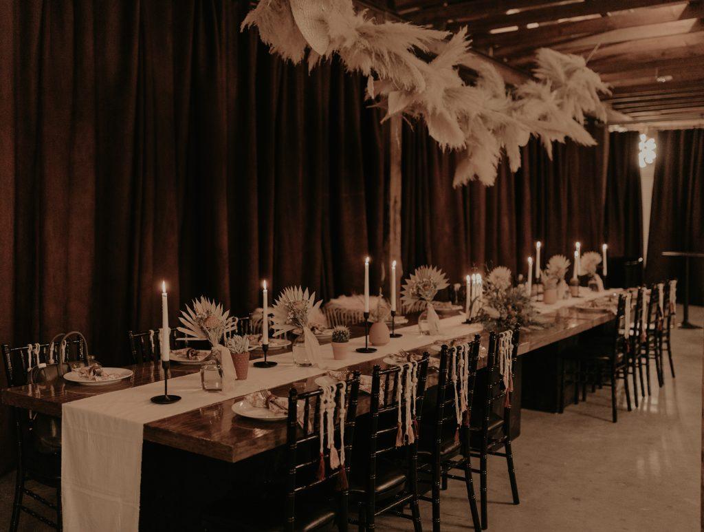 Mod West Wedding - Head Table Design