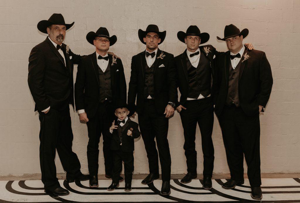 Mod West Wedding - Groomsmen