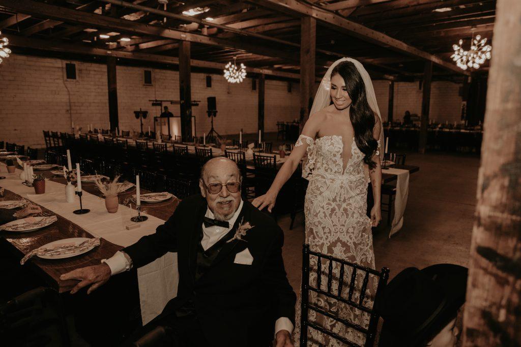Mod West Wedding - Bride First Look with Dad