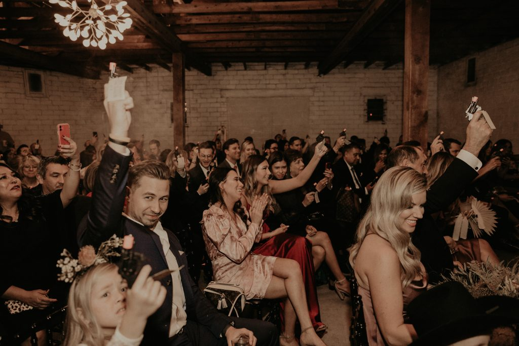 Mod West Wedding - Fire Away When He Kisses the Bride