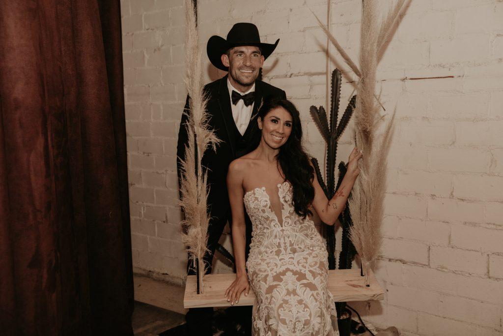 Mod West Wedding - Custom Swing Photobooth